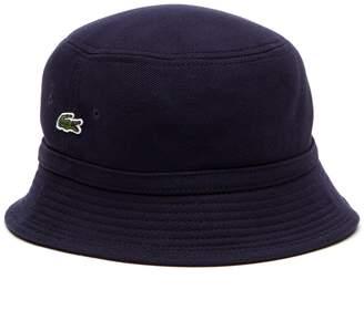 Lacoste Men s Cotton pique bucket hat 62bda1b00a3