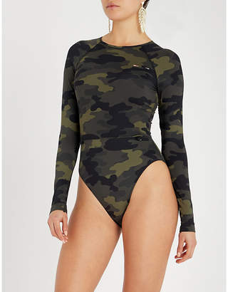 The Upside Camo Paddle swimsuit