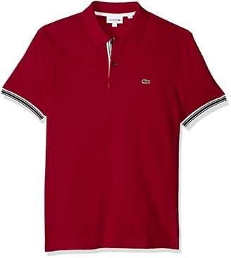 Lacoste Men's Short Sleeve Semi Fancy Petit Pique Slim Polo