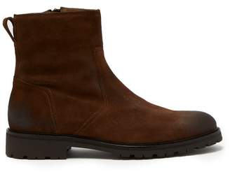 Belstaff Attwell Burnished Suede Boots - Mens - Brown