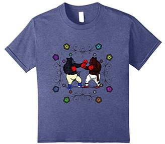 Funny psychedelic boxing bear groovy vintage shirt