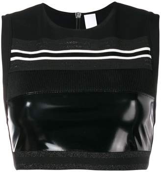 NO KA 'OI No Ka' Oi patent panel cropped top