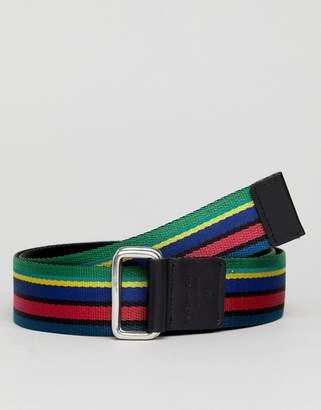 Paul Smith webbing belt in multi stripe