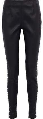 Thierry Mugler Studded Leather Skinny Pants