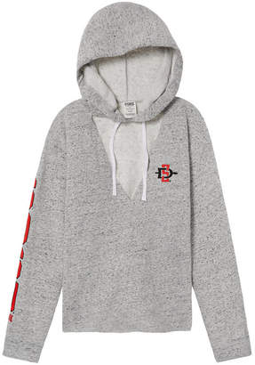 PINK San Diego State University Choker Neck Pullover Hoodie