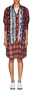 Needles Women's Plaid Cotton Flannel Shirtdress