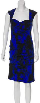 Nicole Miller Silk Knee-Length Dress