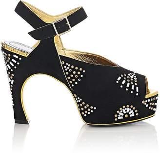 Dries Van Noten Women's Suede Platform Sandals