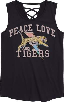 Ten Sixty Sherman Peace Love Tigers Graphic Tank