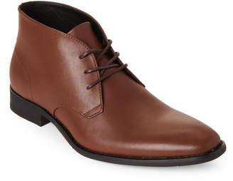 Calvin Klein Tan Rolando Leather Chukka Boots