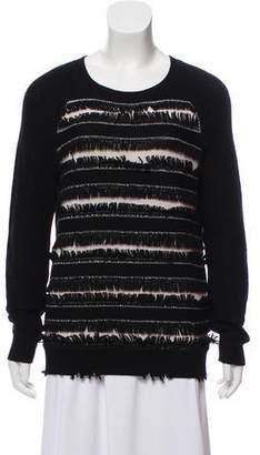 Haute Hippie Fringe-Accented Wool Sweater