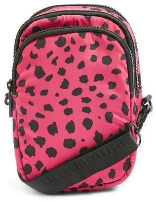 Topshop Leopard Print Nylon Shoulder Bag