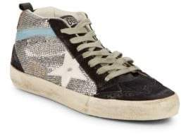 Golden Goose Star Textured Lace-Up Sneakers