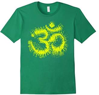 Neon Yellow Tie Dye Om Tee Shirt