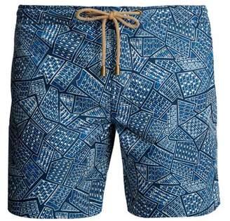Thorsun - Titan Fit Tile Print Swim Shorts - Mens - Blue