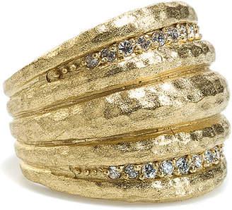 Rivka Friedman 18K Clad Simulated Diamond Ring
