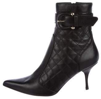 e81040f3504 Burberry Quilted Leather Ankle Boots