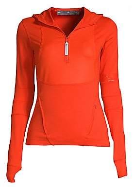 adidas by Stella McCartney Women's Run Hooded Long Sleeve Top