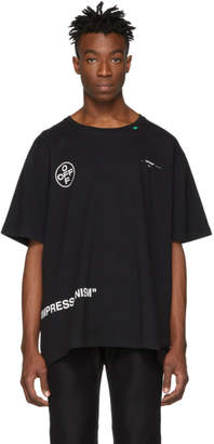 Off-White Off White SSENSE Exclusive Black Stencil T-Shirt