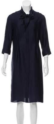 Rochas Silk Button-Up Shirtdress