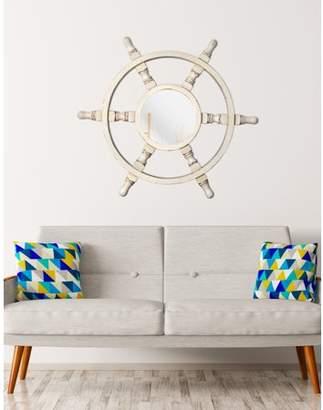 "Kenroy Home Helmsman 40"" Wall Mirror - Distressed White"
