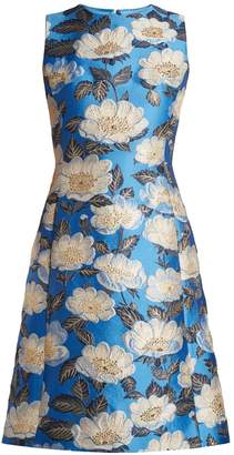Dolce & Gabbana Floral-jacquard sleeveless dress