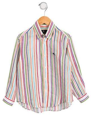 Etro Boys' Striped Button-Up Shirt