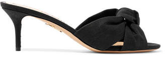 Charlotte Olympia Lola Knotted Canvas Mules - Black