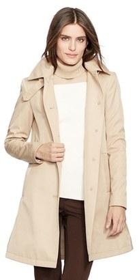 Women's Lauren Ralph Lauren A-Line Raincoat $198 thestylecure.com