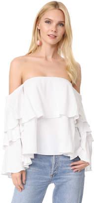 MLM LABEL Mesa Shoulder Top $180 thestylecure.com