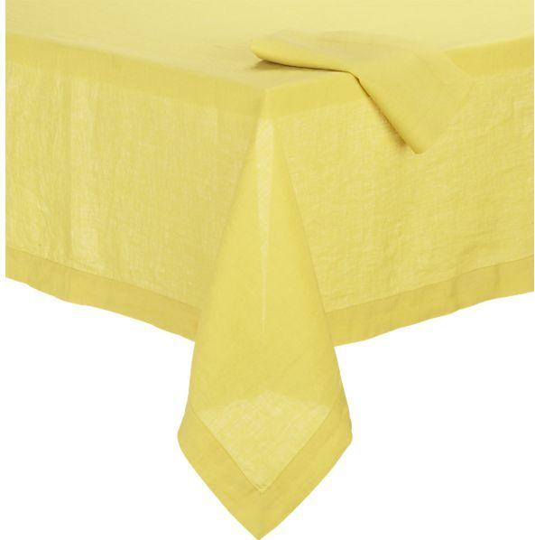 Helena Mustard Tablecloth.