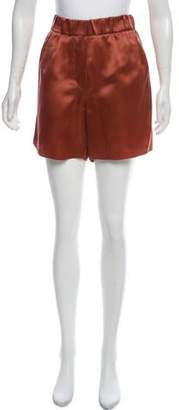 Brunello Cucinelli Silk High-Rise Shorts w/ Tags