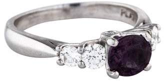 Scott Kay Platinum Color Change Garnet & Diamond Cocktail Ring