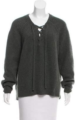 Nili Lotan Lace-Up Cashmere Sweater