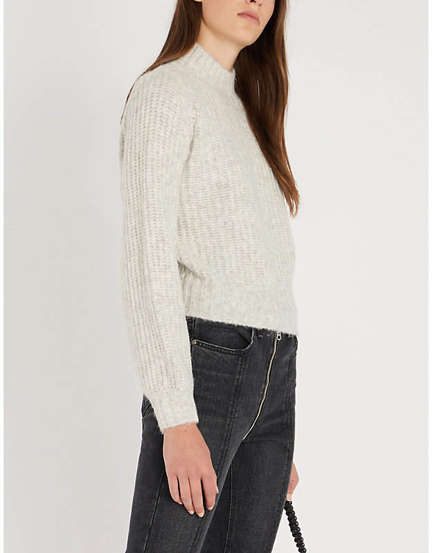 Blouson-sleeve wool jumper