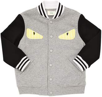 Fendi Monster Patch Cotton Bomber Jacket