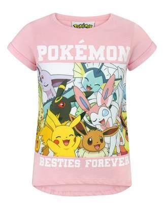 Pokemon Childrens/Girls Besties Forever T-Shirt (Years (7-8)) (Light )