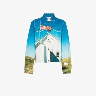 Calvin Klein Jeans Est. 1978 printed denim jacket