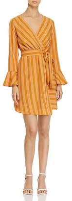 Vero Moda Nicky Striped Faux-Wrap Dress