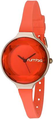 RumbaTime Women's ' ' Japanese Metal and Silicone Watch, Color:Orange (Model: 24784)