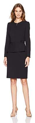Tahari by Arthur S. Levine Women's Nacy/Ivory Pintstripe Skirt Suit