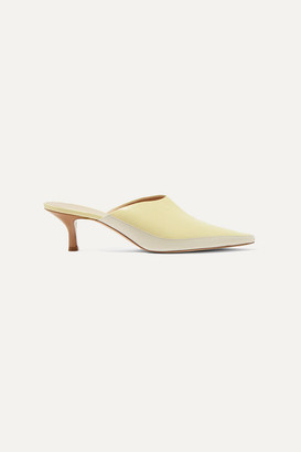 Wandler Bente Two-tone Leather Mules - Off-white