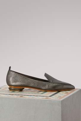 Nicholas Kirkwood Beya Metallic Leather Loafers