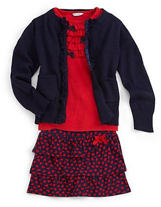 Hartstrings Toddler's & Little Girl's Ruffle-Trimmed Cardigan