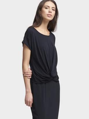 DKNY Matte Jersey Knot Front Dress