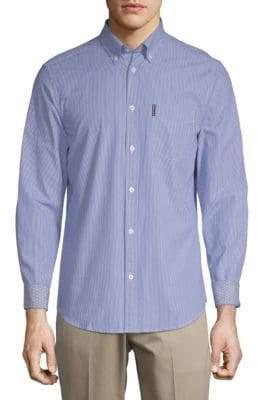 Ben Sherman Striped Long-Sleeve Cotton Button-Down Shirt