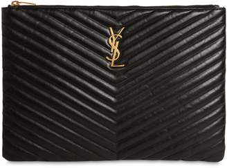 Saint Laurent Medium Quilted Leather Pouch