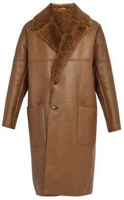 Berluti - Shearling Lined Leather Coat - Mens - Camel