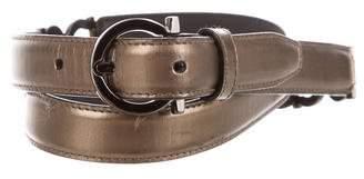 Salvatore Ferragamo Leather Gancini Belt