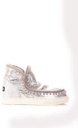 Mou Eskimo Crackle Leather Mini Boots